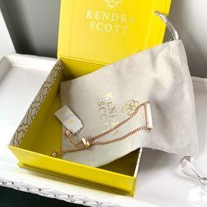 NWT Kendra Scott 14k rosegold mother prl bracelet